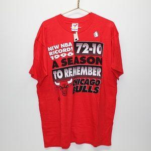NWT Vintage 1996 Chicago Bulls 72-10 Record Shirt